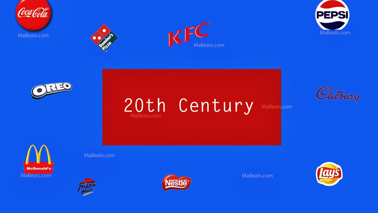 20th century food evolution-brand logos
