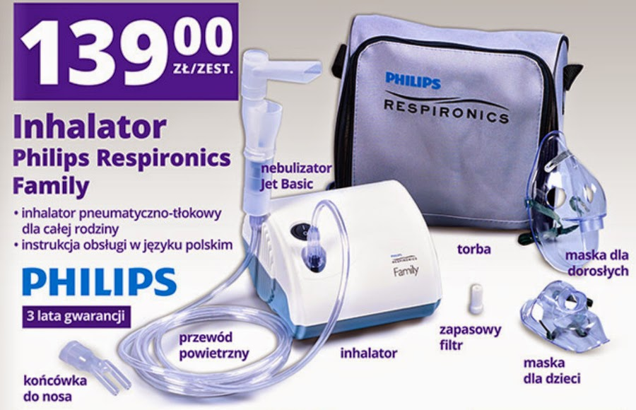 Inhalator Philips Respironics Family z Biedronki ulotka