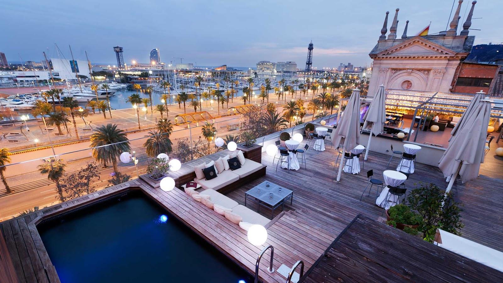 Rooftop restaurant barcelona