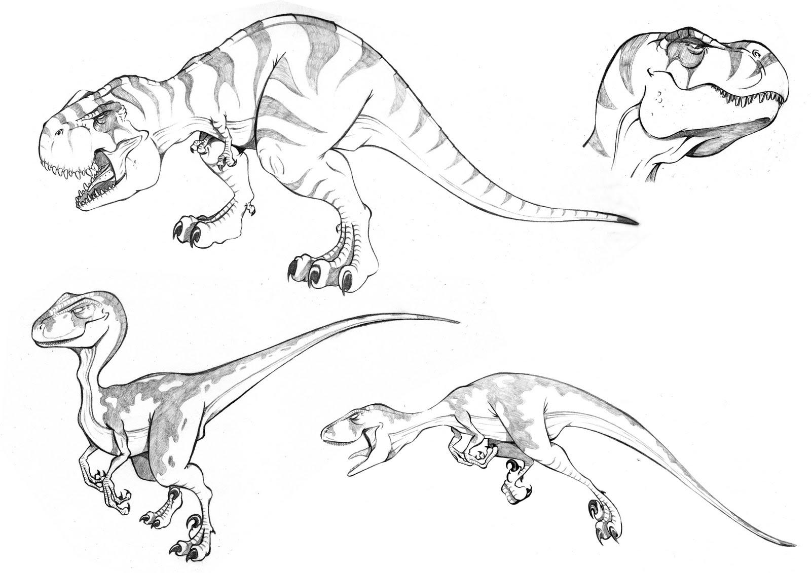 Dinosaurios rex para colorear - Imagui