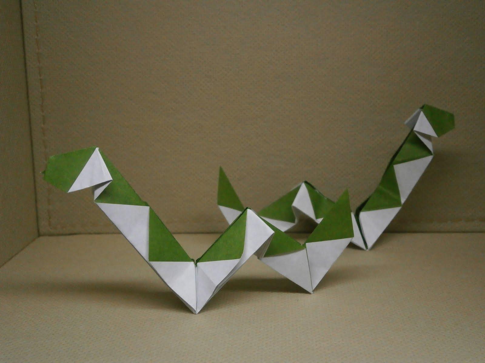 katakoto origami creation of origami snake that is next