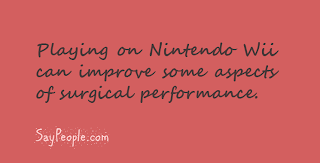 Nintendo wii and surgery