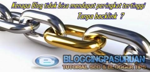 Kenapa Blog Tanpa Backlinks tidak bisa mendapatkan peringkat ?