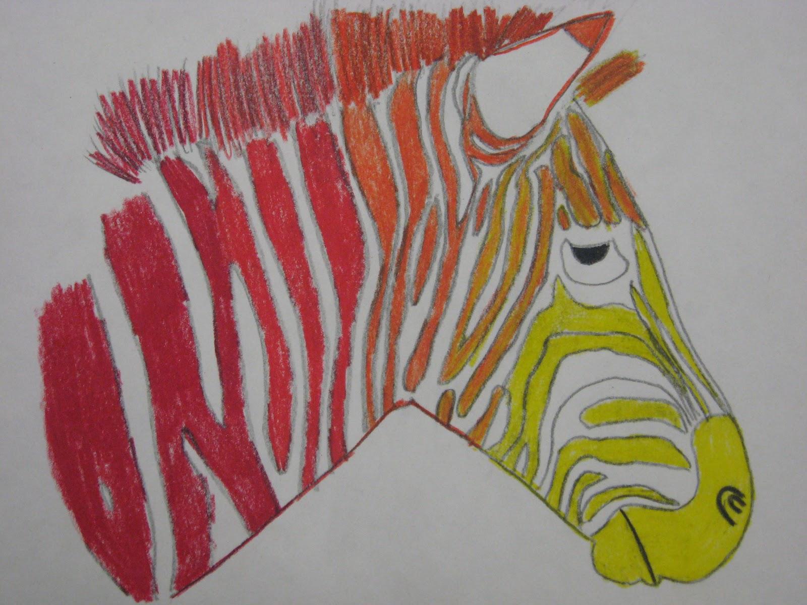 6th Grade Analogous Color Zebras