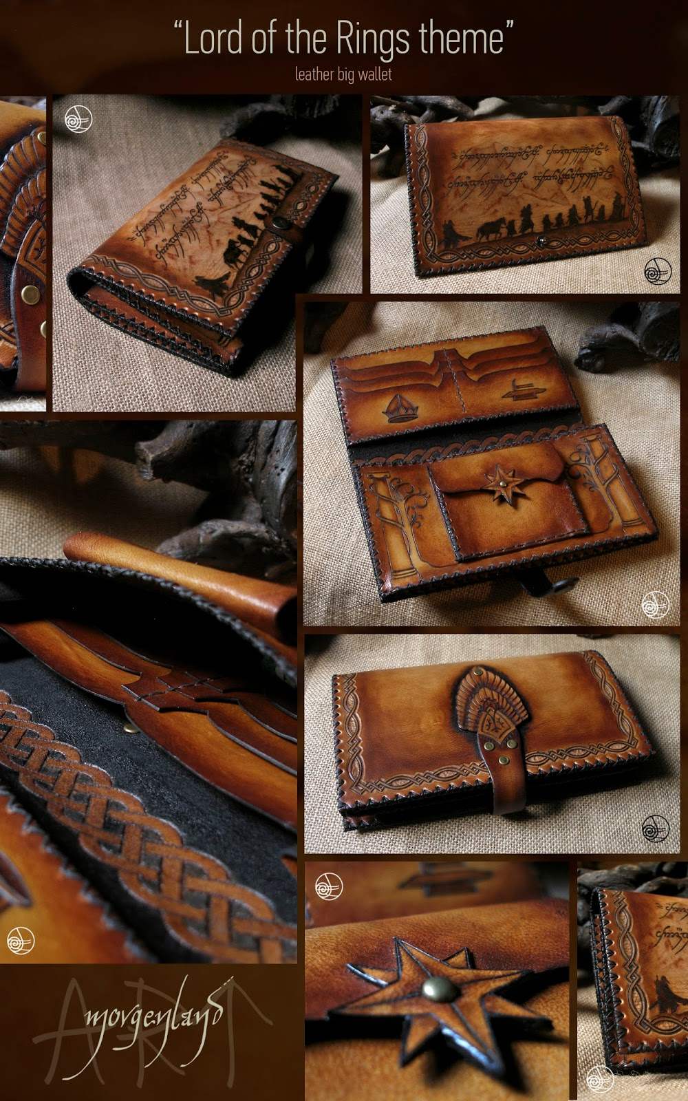 Gmail old theme - Lord Of The Rings Theme Big Leather Wallet