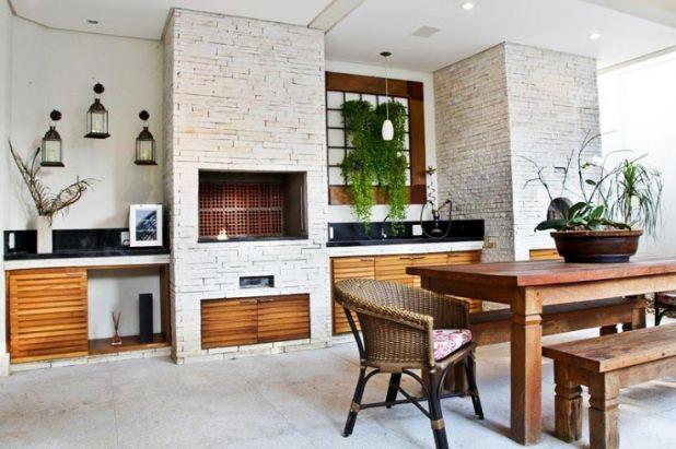 jardim vertical moderno:Area Gourmet Com Churrasqueira