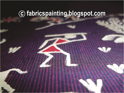 colourful warli painting on kurta