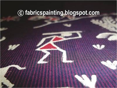 colourful warli painting on kurta