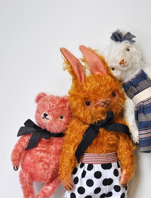 mohair, heritage, rabbit, bear, handmade