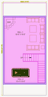Up Country, Yamuna Expressway :: Floor Plans,Villa  810 Sq. Ft. (90 Sq. Yds.): Total Buildup Area by us-2795 Sq.ft:-Lower Ground Floor Plan