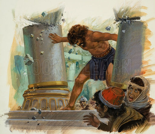 Judges 16 : 1-31 (Samson Destroyed a Temple)