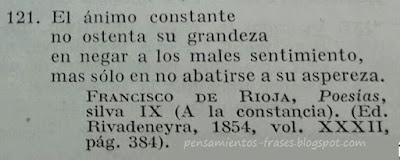 frases de Francisco de Rioja