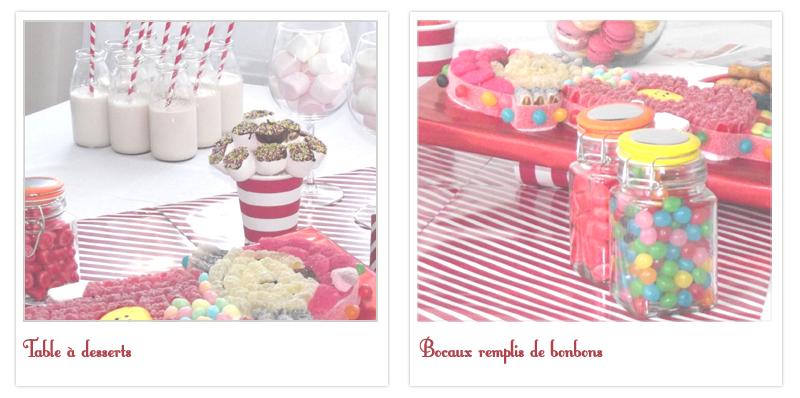 bonbonnières décoration sweet table