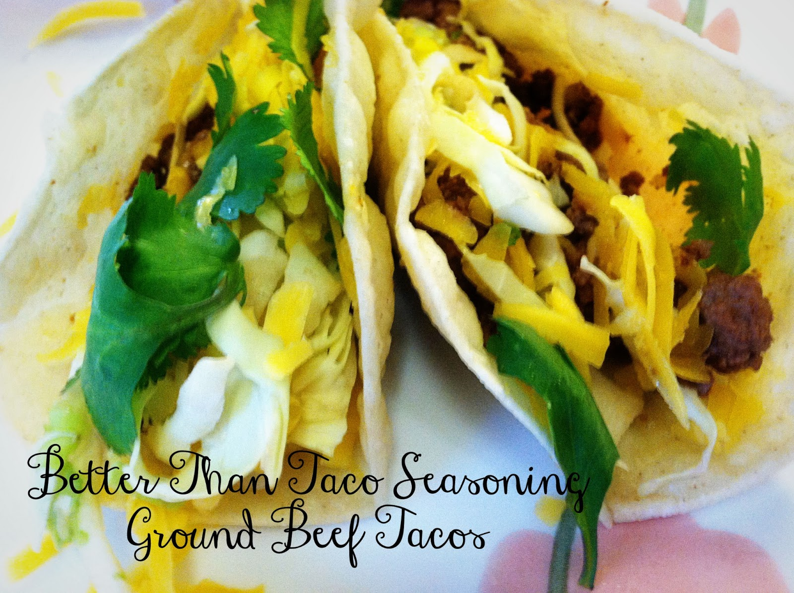 Better Than Taco Seasoning Ground Beef Tacos