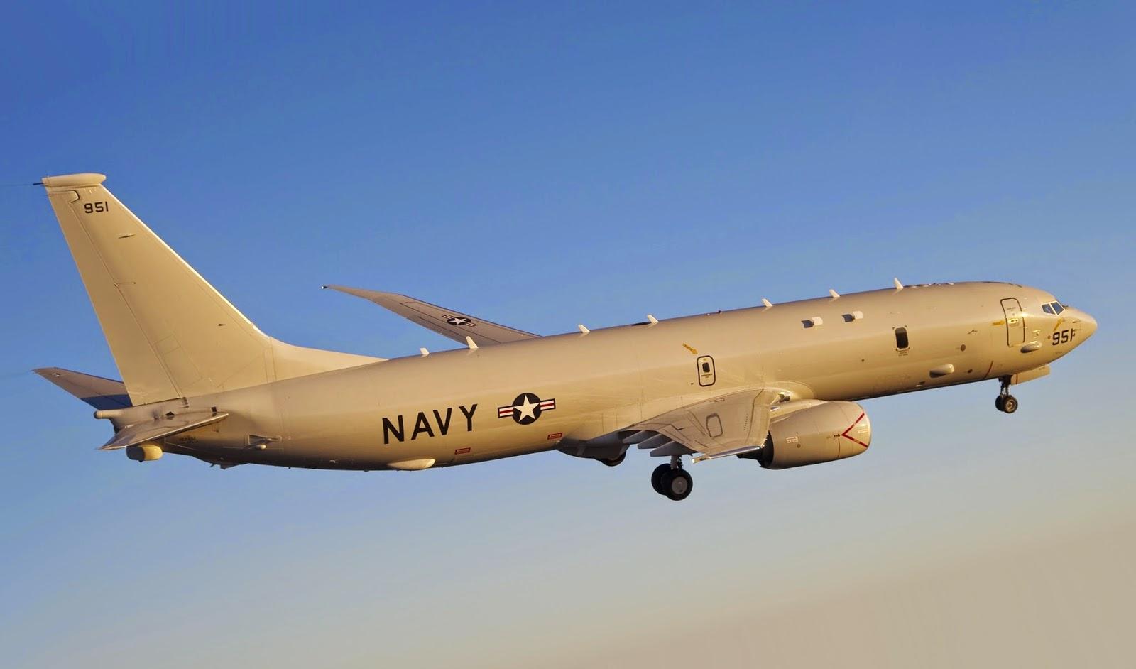 U.S P-8 Poseidon spy plane