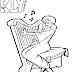Desenho de Mulher tocando Harpa para Colorir
