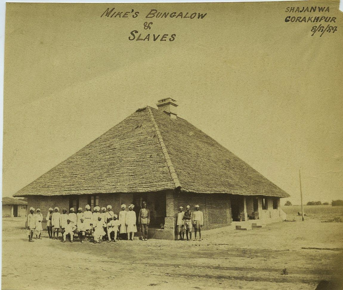 Mike's Bungalow and Staffs - Shajanwa, Gorakhpur, Uttar Pradesh, 1884