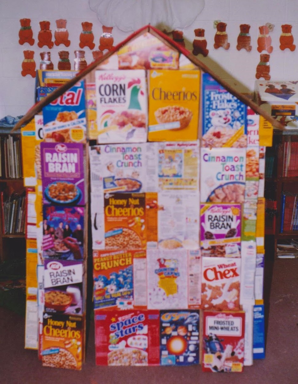 Ms. Nancy's Nook : Cereal Box House Learning Center on making house, cracker box house, waffle box house, cardboard box house,