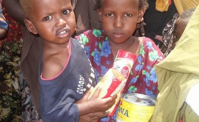 Niños de Somalia ayudados por Infancia Misionera