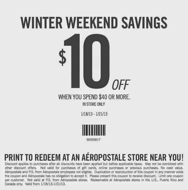 photograph relating to Aeropostale Printable Coupon referred to as Aeropostale coupon codes printable sept 2018 : The redheaded