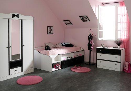 Habitaciones con estilo dormitorios en rosa y negro para for Cuarto negro con gris
