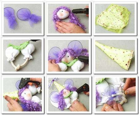 Como hacer haditas de tela souvenirs infantiles.