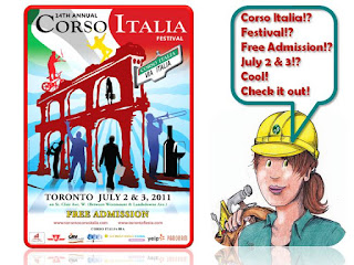 Collage: WoBinna Toronto Corso Italia Festival, July 2 - 3, 2011