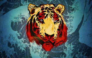 Tema Windows8 Tiger Face Vector1 Download Tema WIndows 8 Keren Free Download