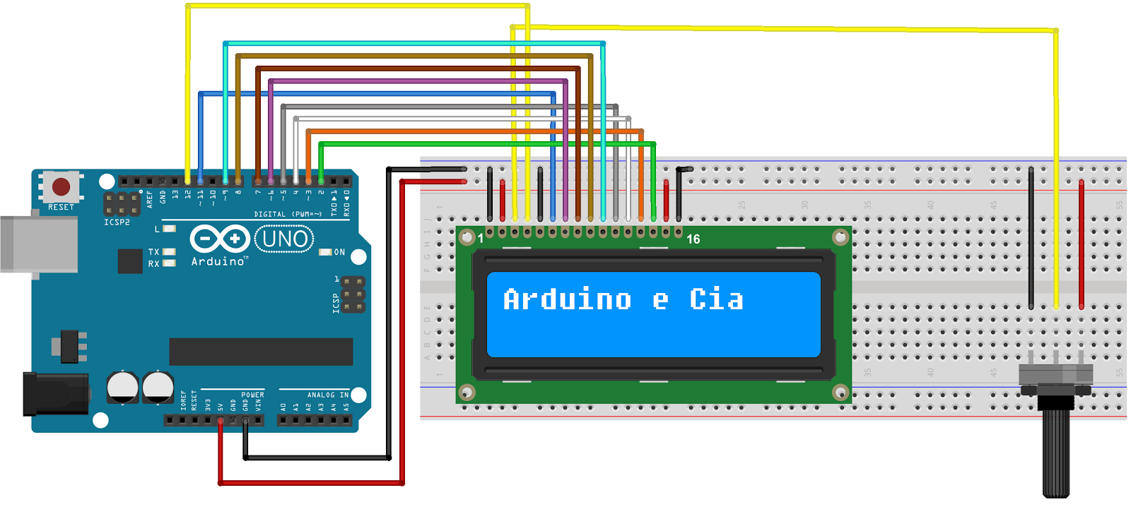 lcd 16x2 modo 8 bits hd44780