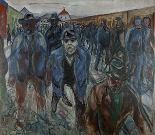 Travailleurs rentrant chez eux, 1913-14, Huile sur toile, 201 x 227 cm, © Munch Museum / Munch-Ellingsen Group / BONO 2011, © Adagp, Paris 2011