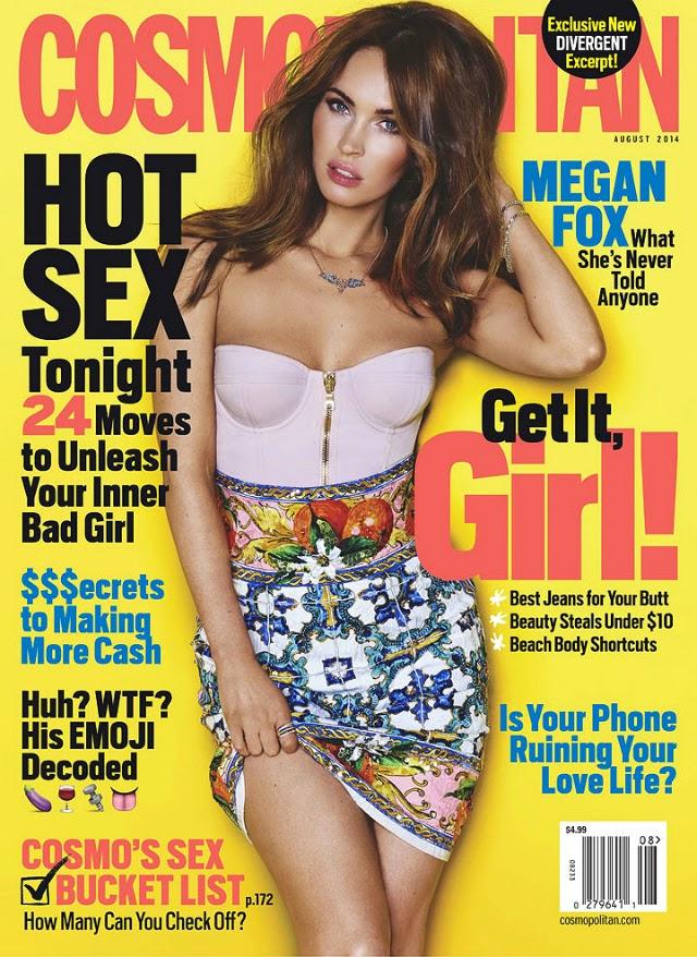 Megan Fox en portada de la revista Cosmopolitan
