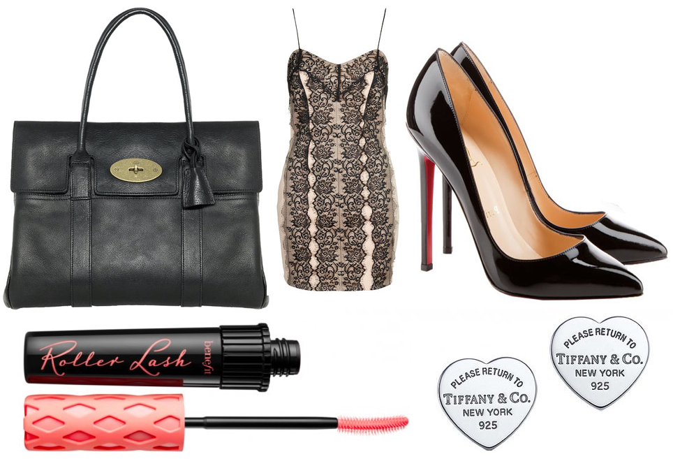 Mulberry Bayswater, Topshop, Christian Louboutin Pigelle, Benefit Roller Lash, Tiffany & Co