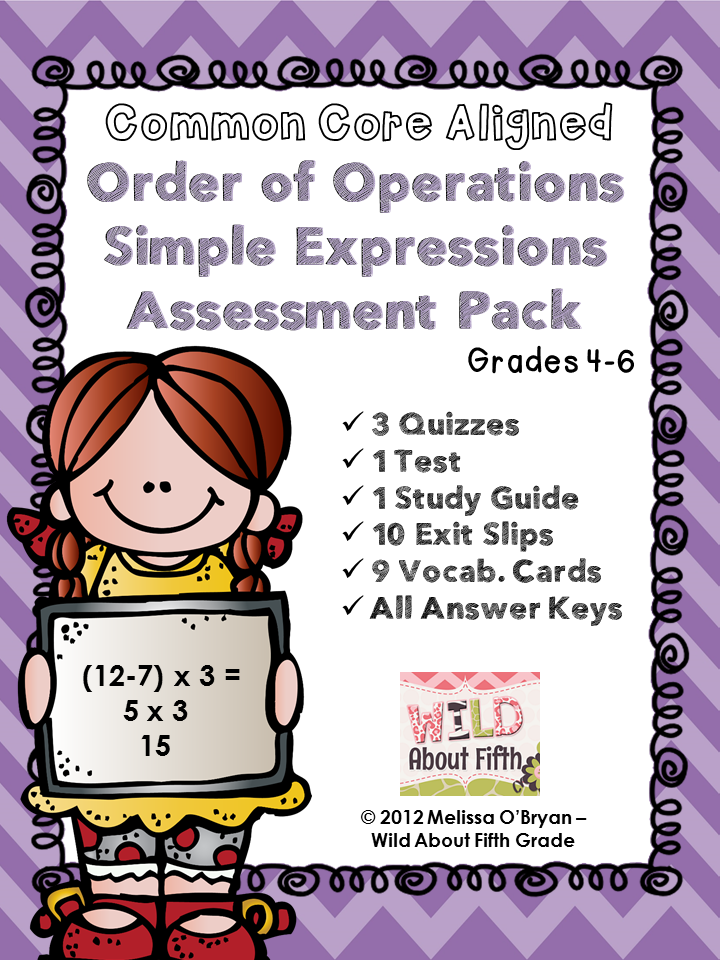 Order of Operations Activity .