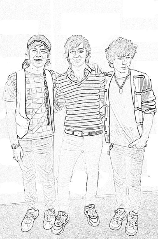 Onerso Coloring Pages Free Jonas Brother Coloring Sheet