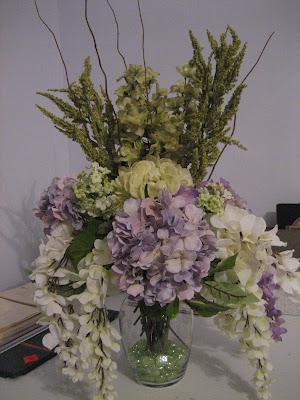 Place card table bouquet