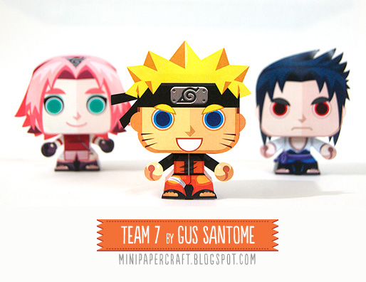 Mini Naruto Paper Toy