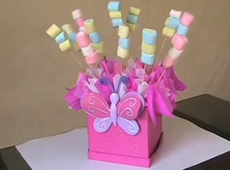 La cesta de caperucita centros de mesa dulces - Decoracion de mesa de cumpleanos infantil ...