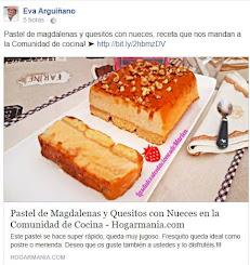 MI PASTEL DE MAGDALENAS Y QUESITOS CON NUECES PUBLICADO POR EVA ARGUIÑANO EN HOGARMANIA