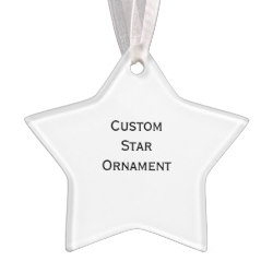 Custom Star Photo Acrylic Christmas Ornament