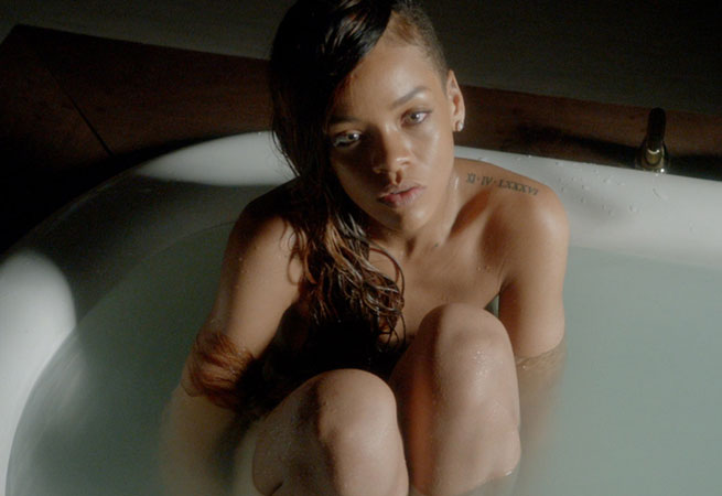 Rihanna gets naked talk