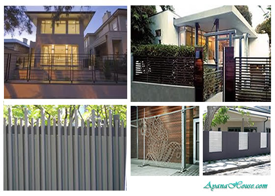 House Fence Design - AyanaHouse