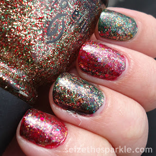 China Glaze Christmas Manicure