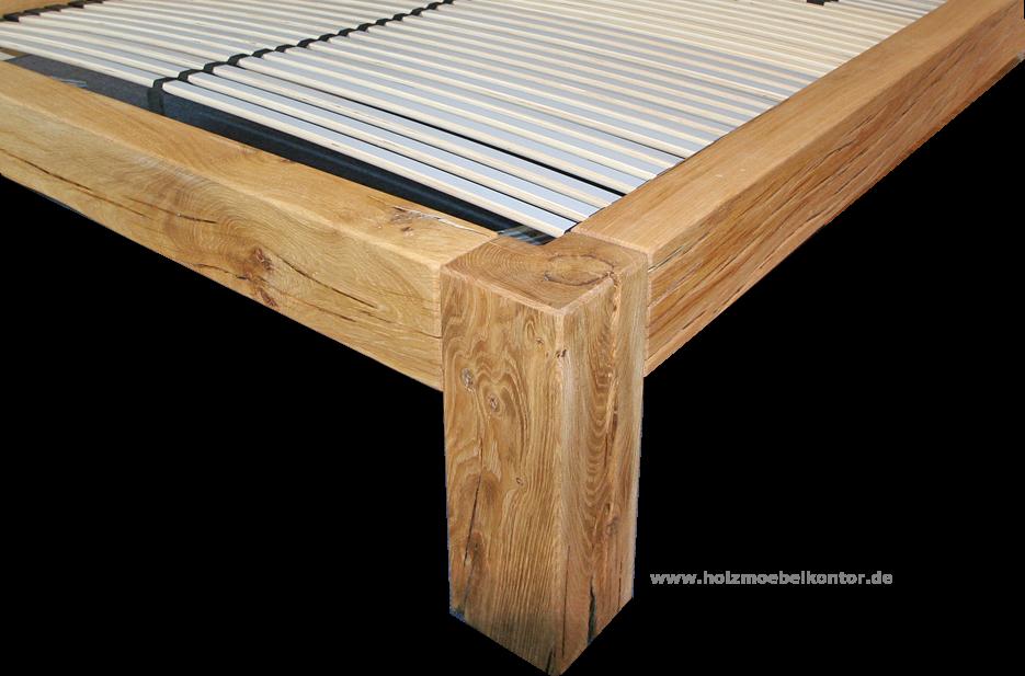 Betten aus Holzbalken • Massivholz Qualität: Balkenbetten