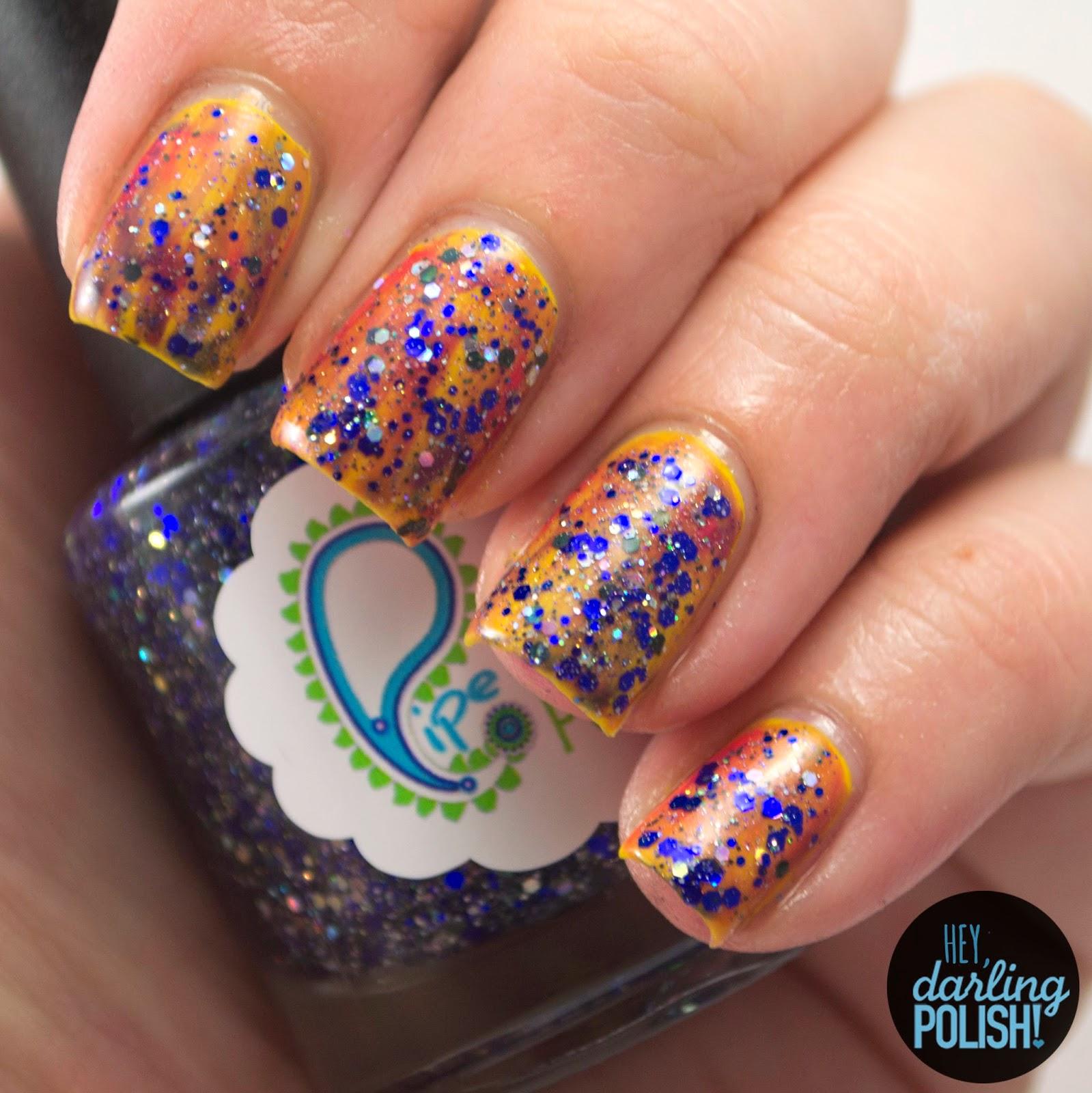 nails, nail art, nail polish, polish, indie, indie nail polish, indie polish, glitter, tri polish challenge, hey darling polish