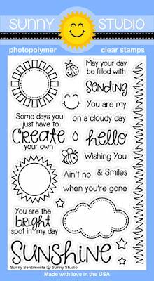 Sunny Studio Sunny Sentiments Stamp Set