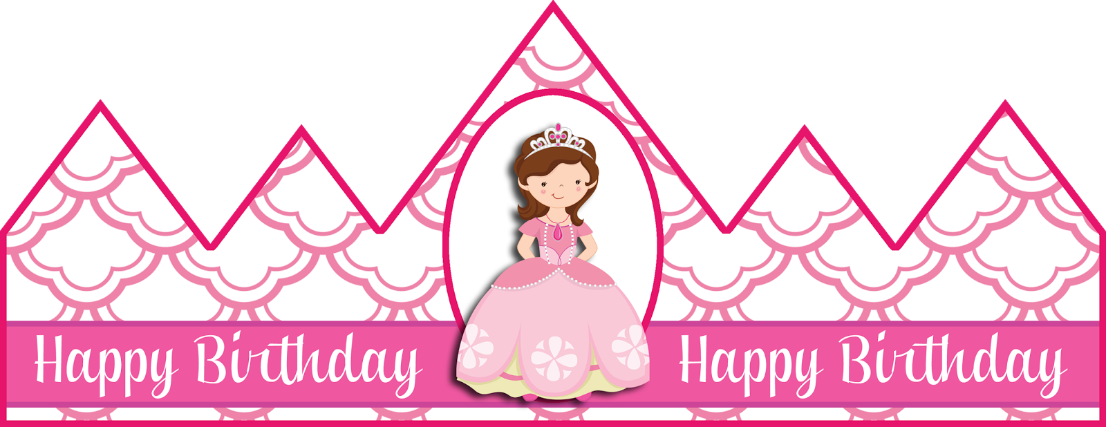 Search results for printable princess crowns templates for Happy birthday crown template