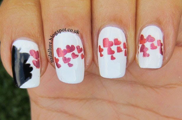 Blowing hearts manicure