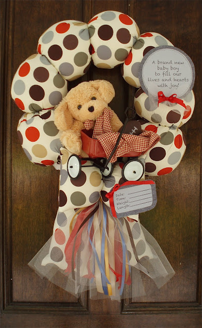 "87. custom ""A boy and his wagon"" baby wreath"