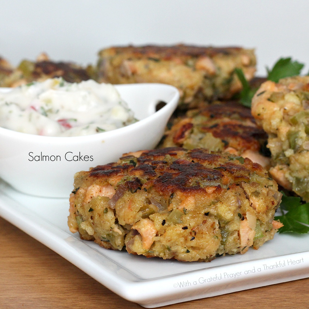 Salmon Cakes: With A Grateful Prayer And A Thankful Heart: Salmon Cakes
