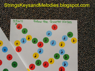 musical notes, musical note games, quarter notes, whole notes, half notes, dotted half notes, treasure maps, children's music games, strings keys and melodies